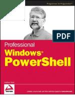 Professional Windows Power Shell
