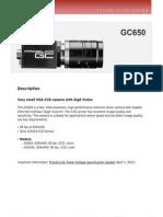Prosilica GC DataSheet 650 v2.0