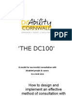 Disability Cornwall - DC100 Consultation Model