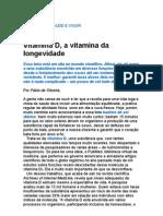 Vitamina D, A Vitamina Da Longevidade - Medicina Preventiva - Saúde e Qualidade de Vida