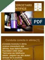 Etica Cercetarii Stiintifice I