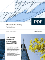 ERCB Hydraulic Fracturing Technical Briefing