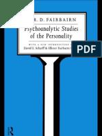 W.R.D. Fairbairn - Psychoanalytic Studies of the Personality