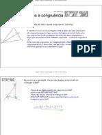 triângulos - ângulos e congruência