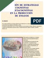 4. APLICACIÓN DE ESTRATEGIAS COGNITIVAS Y METACOGNITIVAS EN LA PRODUCCIÓN DE ENSAYOS