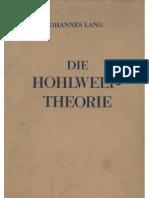 Johannes Lang - Die Hohlwelttheorie