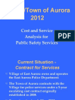 Cost and Service Analysis for Public Safety Services