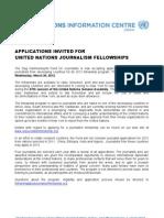 UN Journalism Fellowship Announcement 2012