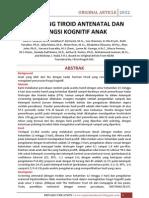 Screening Tiroid Antenatal Dan Fungsi Kognitif Anak