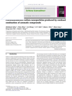 Photoluminescent CNPs Produced by Confined Combustion of Aromatic Compounds