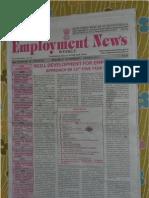 Employment News online e paper | Rojgar Samachar रोजगार समाचार New Delhi 25 February - 2 March 2012 Vol. XXXVI No. 48