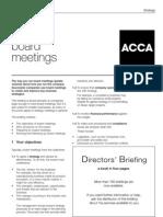 Effective Board Meetings