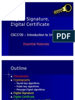 Digital Signature & Digital Certificate
