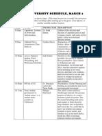 Open University Schedule, March 1