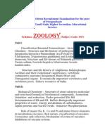 Zoology Syllbus