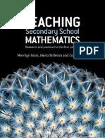 Goos - Teaching Secondary School Mathematics (Allen, 2007)