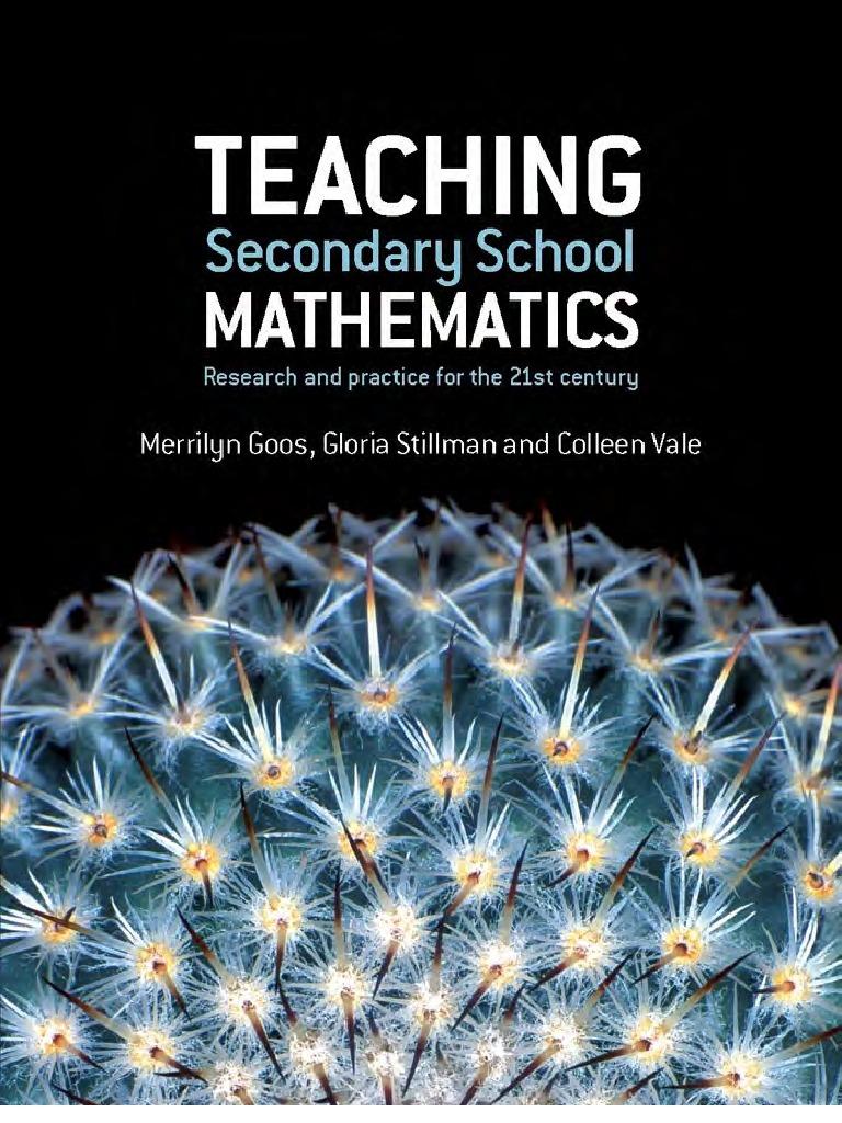 Goos - Teaching Secondary School Mathematics (Allen, 2007 ...