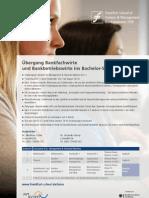 Übergang Bankfachwirte und Bankbetriebswirte ins Bachelor-Studium