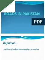 Roads in Pakistan Presentation