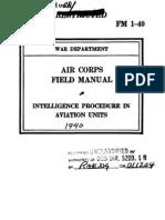 Aviation Intelligence ~ 1940