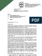 Surat to Menteri PU Di Jakarta