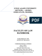 Faculty of Law Handbook