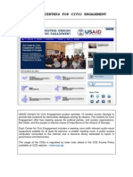 USAID CENTERS FOR CIVIC ENGAGEMENT