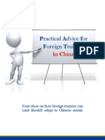 Practical Advice for Trainers in China