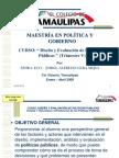 """""""Diseño y Evaluación de Políticas Públicas"""", El Colegio de Tamaulipas."""