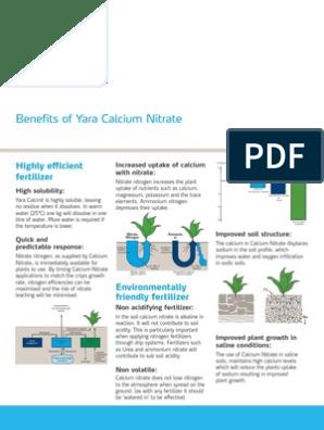 Calcium Nitrate Brochure | Ammonium | Fertilizer