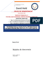 """Modelos de Democracia de David Held""."