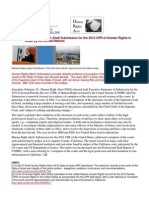 12-02-28 Human Right Alert releases draft Submission for the 2012 UPR of Human Rights in Israel by the United Nations