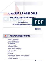 Group I Base Oils