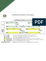 Calendario Lezioni 2011-2012