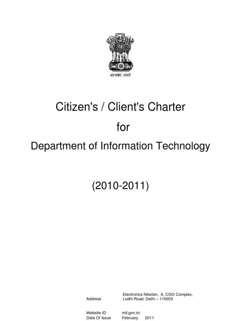 Citizens Clients Charter Output 11211 | Online Safety