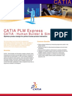 CATIA - Human Builder & Simulation