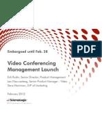 ScienceLogic Telepresence and Videoconferencing Management