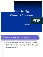 Oracle 11g Virtual Columns