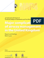 Major Complications of Airway Management in the UK
