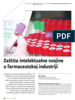 Zaštita intelektualne svojine u farmaceutskoj industriji (prvi deo)