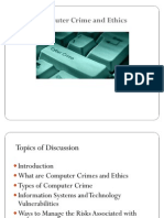 Computer Crime and Ethics