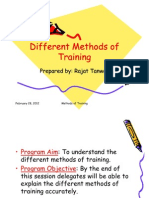 Different Methods of Training[1]
