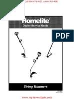 Homelite String Trimmer Repair Manual Covers 100 Different Models