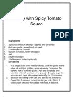 Shrimp With Spicy Tomato Sauce