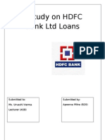 A Study on HDFC Bank Ltd