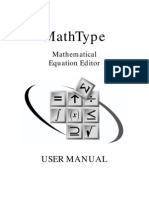 MathType User Manual