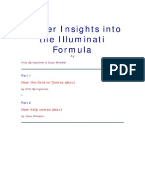 Deeper Insights Into the Illuminati Formula | Central