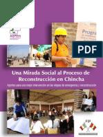 Una mirada social al proceso de reconstrucción en Chincha.