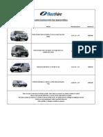 Fleet Hire Special Offers - Vans