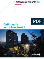 THE STATE OF THE WORLD'S CHILDREN 2012 - Executive Summary